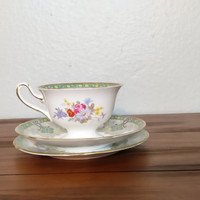 Antique Shelley 1940s Georgian tea trio, teacup, pattern 13360, tea cup and saucer, dessert plate, vintage shelley, english bone china
