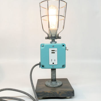 Cell Phone Charger, Charging Station, iPhone Charger, Industrial Lamp, Desk Lamp Industrial, Cell Phone Charger Lamp, Retro Desk Lamp