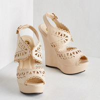 ModCloth Statement Walk a Pretty Path Wedge