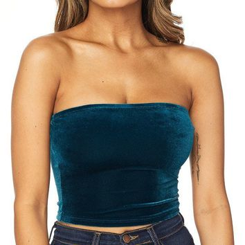 Velour Tube Top