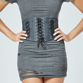 Triple Lace-Up Waist Training Corset Belt