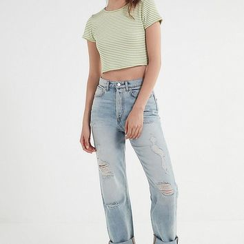 BDG High-Rise Relaxed-Fit Straight-Leg Jean | Urban Outfitters