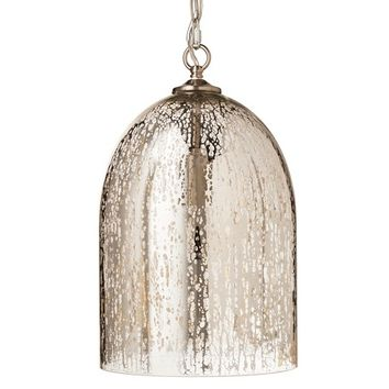 Mercury Glass Bell Pendant - Silver - Threshold™