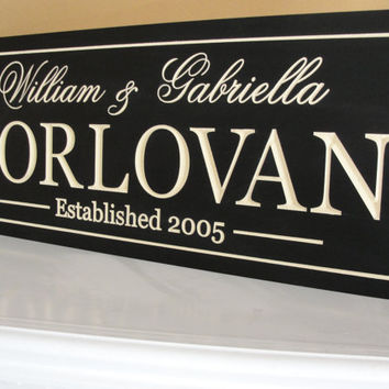 Personalized Family name signs Custom Wooden by michaelswoodworks