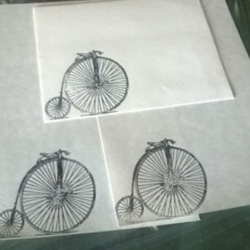Penny farthing stationery Set 1 5 10 parchment paper letter writing envelope industrial bike steampunk Victorian card adult coloring