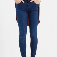 Women's Topshop Moto 'Leigh' Ankle Skinny Jeans (Navy Blue)