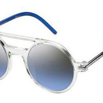 Marc Jacobs - Marc 45 S Crystal Blue Sunglasses / Gray Blue Silver Gradient Lenses