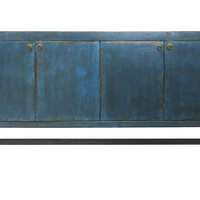 Haven 4-Door Sideboard, Distressed BlueMADERA HOME
