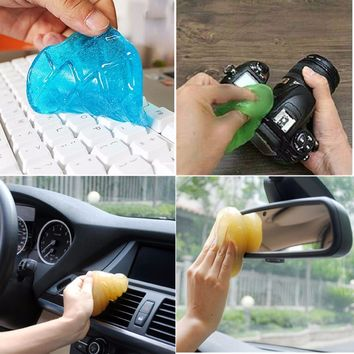 Magic Soft Sticky Clean Glue Gum Silica Gel Car Vent Air Computer Keyboard Dust Dirt Cleaner Cleaning