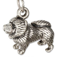 STERLING SILVER THREE DIMENSIONAL CHOW CHOW DOG CHARM