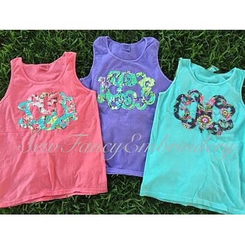 Fabric Monogrammed Comfort Colors Tank