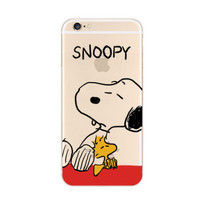 Snoopy Woodstock Nope iPhone 6s 6 Soft Clear Case
