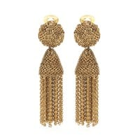 Tassel clip-on earrings