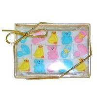 Unisex Baby Shower Decorated Sugar Cubes (15 pc)