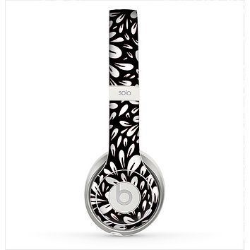 The Black Floral Sprout Skin for the Beats by Dre Solo 2 Headphones
