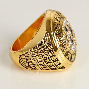 Fashion Montreal Canadiens 1977 Patrick Roy  Cup Championship Ring, Wedding Gift Rings For Men Sport Ring