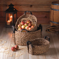 Rustic Woven Nesting Baskets