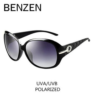 Sunglasses Women Polarized Elegant Rhinestone Ladies Sun Glasses Female Sunglasses Oculos De Sol BENZEN Shades With Case 6008