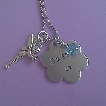 Children's Necklace Custom Hand Stamped Stainless Steel