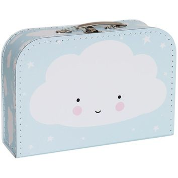 A Little Lovely Company Suitcase: Cloud Blue