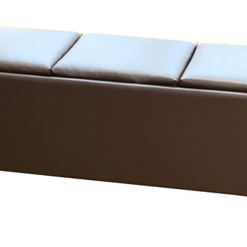 Tribeca Ottoman with 3 Tray Tops in Brown