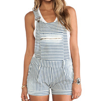 Capulet Overall Short in Ivory