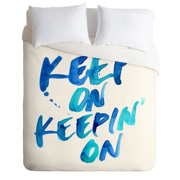 CMYKaren Keep On Keepin On Duvet Cover