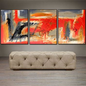 """'Taking Flight'  - 48"""" X 20"""" Original Abstract  Art.  Free-shipping within USA & 30 day return Policy."""