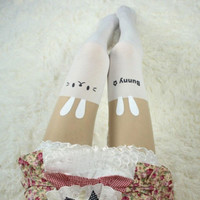 Womens Fashion Sexy Sheer Pantyhose Design Printed Cat Tattoo Stockings Tights
