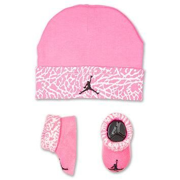 Girls' Infant Jordan Elephant Hat/Bootie Combo