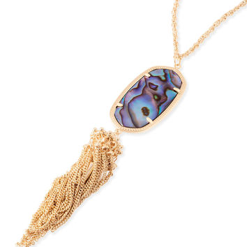 Kendra Scott Rayne Necklace In Abalone Shell