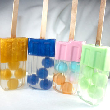 Pop(sicle) Art - popsicle, pop art, party favor, pool party, teens, summer, bubbles, dots, polka dots, ice cream