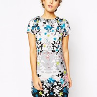 Oasis Blossom Placement Print Shift Dress at asos.com