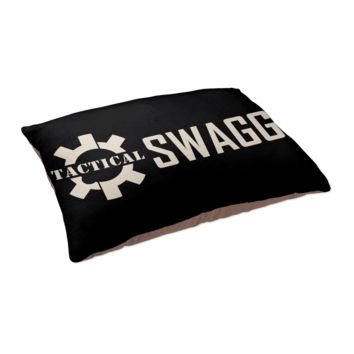 """Tactical Swagg Logo Black Pet Bed/Bedding - 40"""" x 30"""""""