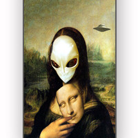 Mona Lisa Alien for iPhone 4/4S Case **
