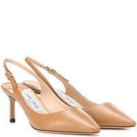 Erin 60 leather slingback pumps