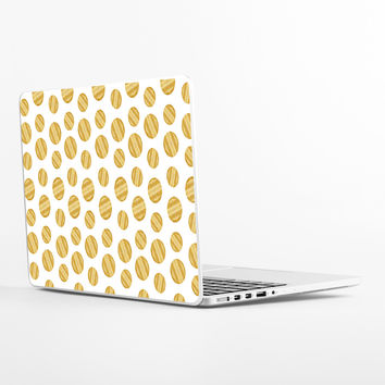 Gold Circles Laptop Skin