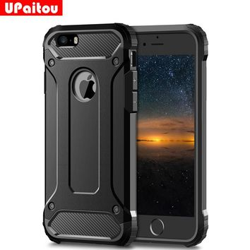 UPaitou Rugged Layer Armor Case for iPhone 5S Case Heavy Duty Shockproof Cases Cover for iPhone 5S 5 SE Hybrid Hard PC TPU 2in1