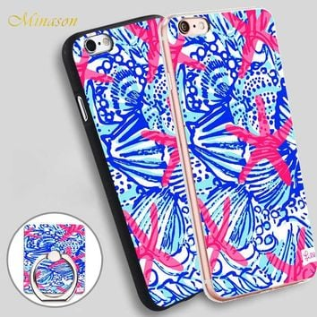 Minason Lilly Pulitzer Mobile Phone Shell Soft TPU Silicone Case Cover for iPhone X 8 5 SE 5S 6 6S 7 Plus