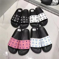 QIYIF MCM VISETOS SLIDE SANDALS