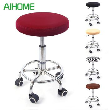 Round Chair Cover Bar Stool Cover Elastic Seat Cover Home Chair Slipcover Round Chair Protector Bar Stool Slipcover