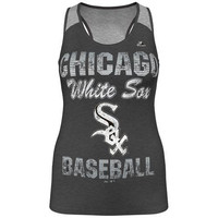 MLB Majestic Chicago White Sox Ladies Champ Sleeveless Fashion Top - Charcoal (Medium)