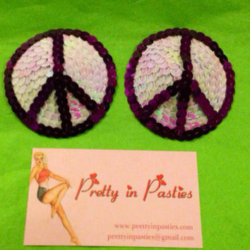 Peace, Love, and Burlesque - Peace Sign Pasties