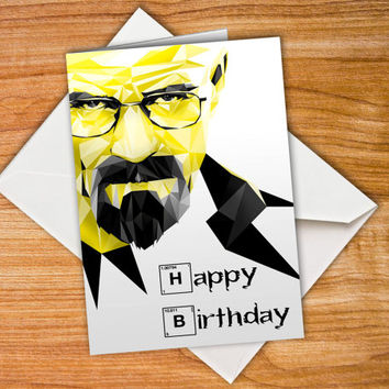 Breaking Bad Birthday Walter White Card Happy birthday card Heisenberg Card Jesse Pinkman customized card Personalised funny birthday card