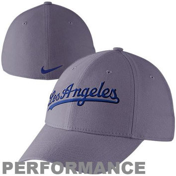Nike L.A. Dodgers Legacy 91 Swoosh Dri-FIT Flex Performance Hat - Charcoal