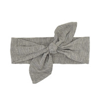 Baby Top Knot Headband in Grey