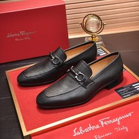 Ferragamo  Men Casual Shoes Boots fashionable casual leather