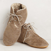 Golden Flecked Lace-Ups
