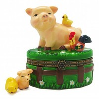 Children's Jewelry Boxes Happy Pig & Chicks