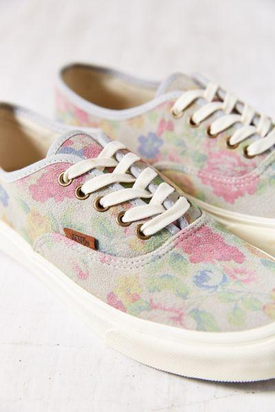 8e3dcf0fa5 Vans Authentic Slim Suede Floral Low-Top from Urban Outfitters